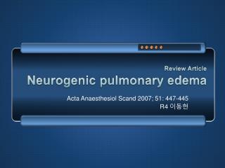 Review Article Neurogenic  pulmonary edema