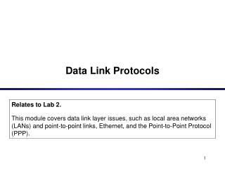 Data Link Protocols
