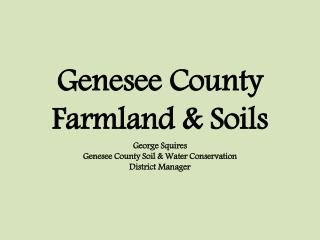 Where is the farmland in Genesee County located? Show me a map!