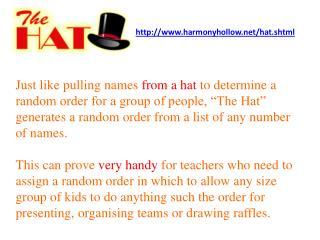 http://www.harmonyhollow.net/hat.shtml