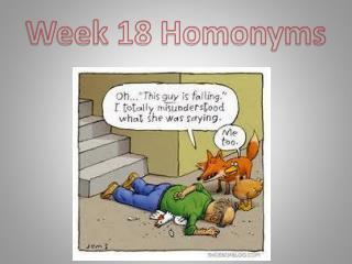 Week 18 Homonyms