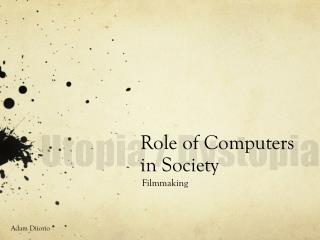 Role of Computers in Society