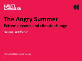 The Angry Summer Extreme events and climate change