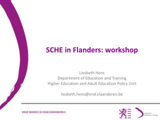 SCHE in Flanders:  workshop