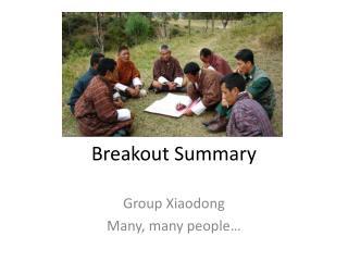 Breakout Summary