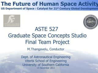 The Future of Human Space Activity