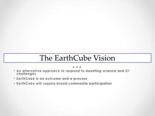 EarthCube Vision