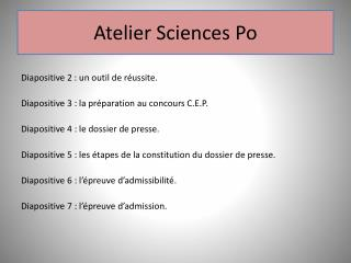 Atelier Sciences Po