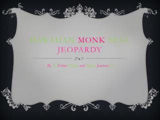 Hawaiian Monk Seal Jeopardy