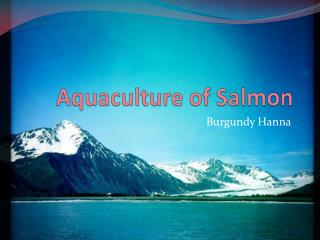 Aquaculture of Salmon