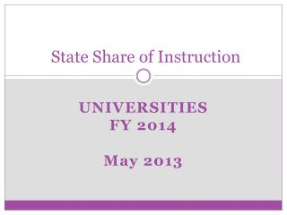 State Share of Instruction