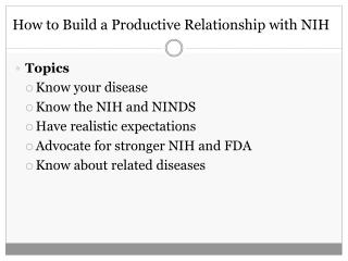 How to Build a Productive Relationship with NIH
