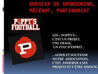 Dossier de sponsoring, mécénat, partenariat