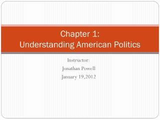 Chapter 1:  Understanding American Politics