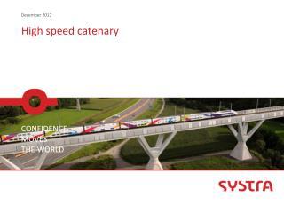 High speed  catenary