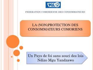 FEDERATION COMORIENNE DES CONSOMMATEURS