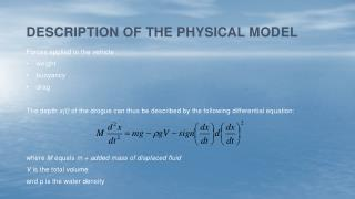 Description of the physical model