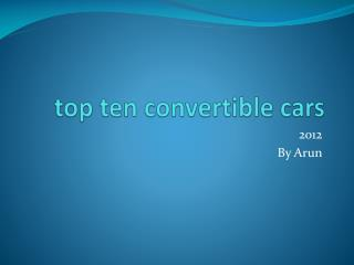 top ten convertible cars