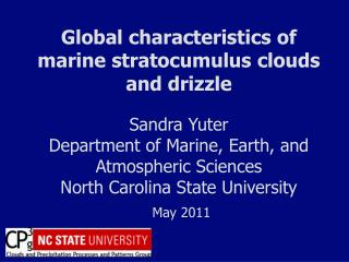 Global characteristics of marine  stratocumulus clouds and  drizzle