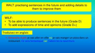 Traduisez en anglais