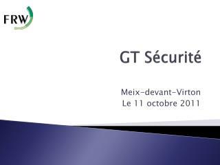 GT Sécurité