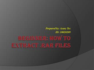 How to Extract .RAR Files on win7