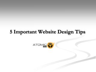 5 Important Website Design Tips