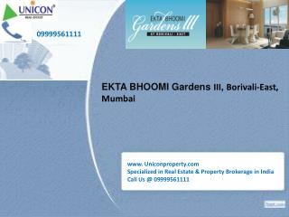 Ekta Bhoomi Garden iii | Call 09999561111 for booking apartment in Bhoomi