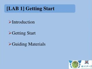 [LAB 1] Getting Start