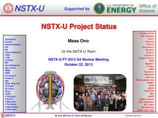 NSTX-U Project Status
