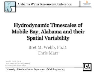 Hydrodynamic Timescales of Mobile Bay, Alabama and their Spatial Variability
