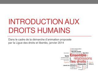 Introduction aux droits humains