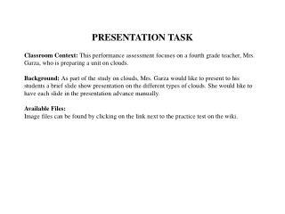 PRESENTATION TASK