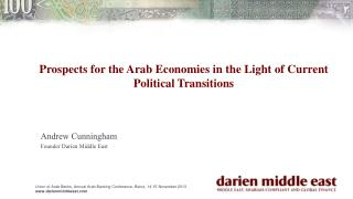 Prospects for the Arab Economies in the Light of Current Political Transitions