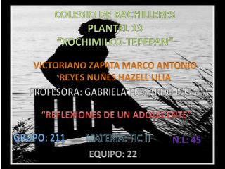 "Colegio de Bachilleres  Plantel 13 ""Xochimilco- T epepan """