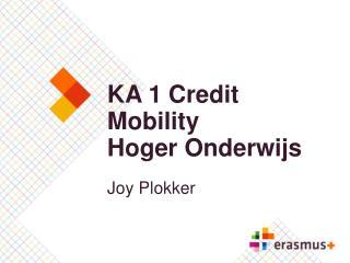 KA 1 Credit Mobility Hoger Onderwijs