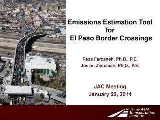 Emissions Estimation Tool  f or  El Paso Border Crossings