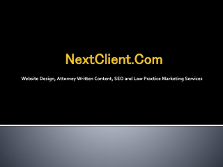 Firm for designing a Legal Website