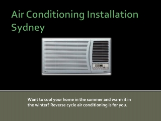 Air Conditioning North Sydney