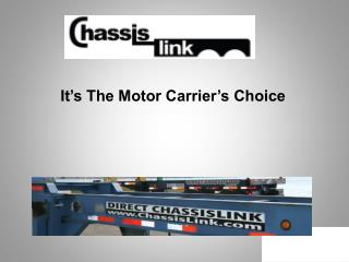 It�s The Motor Carrier�s Choice