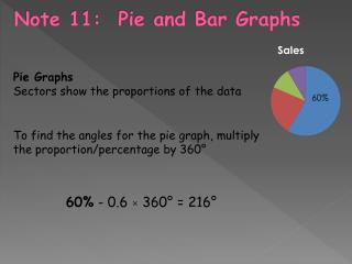 Note  11:  Pie and Bar Graphs