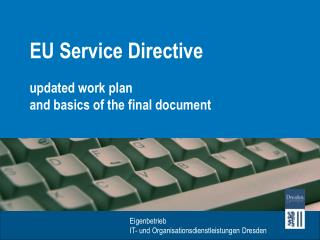 EU Service  Directive
