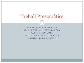 Treball Presocràtics