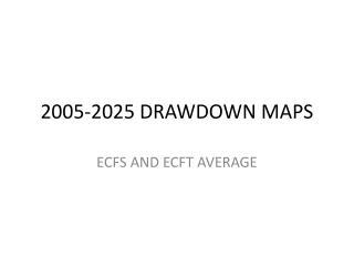 2005-2025 DRAWDOWN MAPS