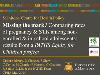 Manitoba Centre for Health Policy