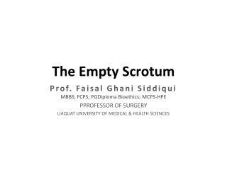 The Empty Scrotum
