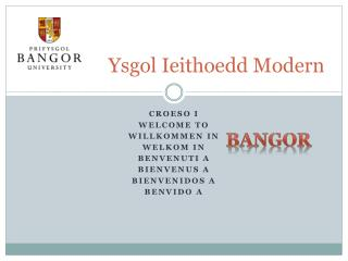 Ysgol Ieithoedd  Modern