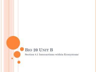 Bio 20 Unit B