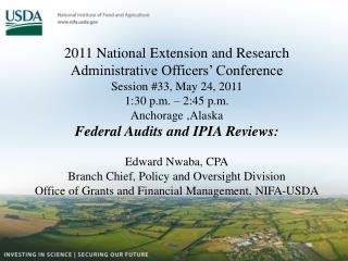2011 National Extension and Research  Administrative Officers' Conference