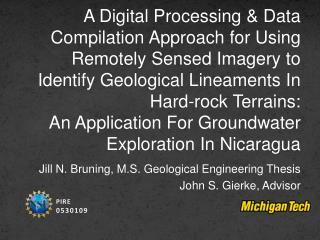Jill N.  Bruning , M.S. Geological Engineering Thesis  John S.  Gierke , Advisor